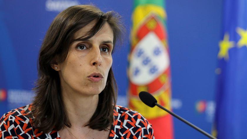 Jamila Madeira foi a porta-voz do Governo na conferência de imprensa de hoje. Foto: Miguel A. Lopes/Lusa