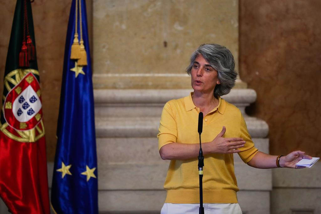 Ministra da Cultura, Graça Fonseca. Foto: Tiago Petinga/Lusa