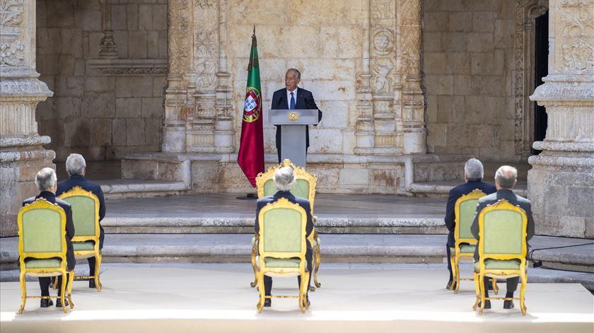 """Marcelo no 10 de junho. """"Portugal não pode fingir que não existiu e existe pandemia"""""""