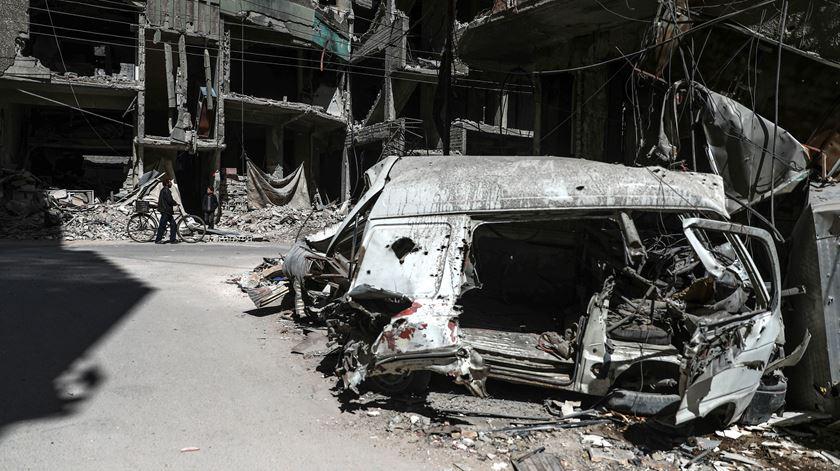 Inspetores de armas químicas esperados em Douma na quarta-feira. Foto: EPA