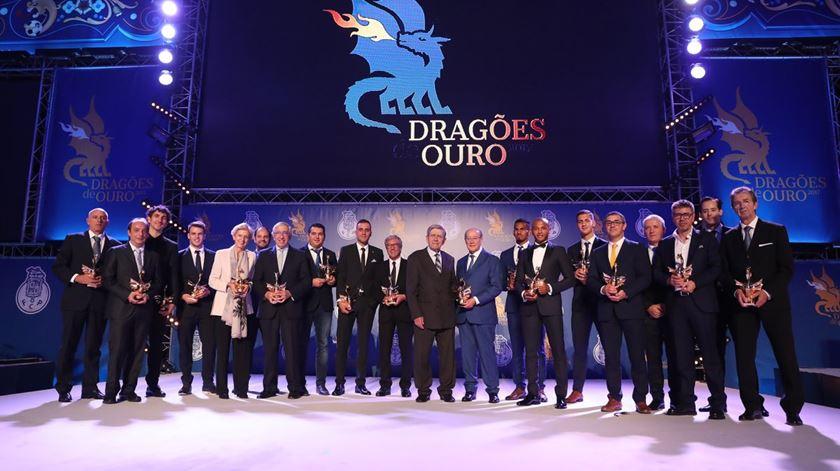 Os vencedores dos galardões em 2017. Foto: FC Porto