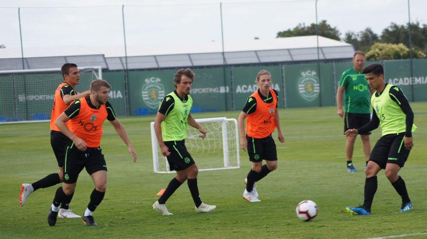Plantel do Sporting volta a treinar antes da dupla folga