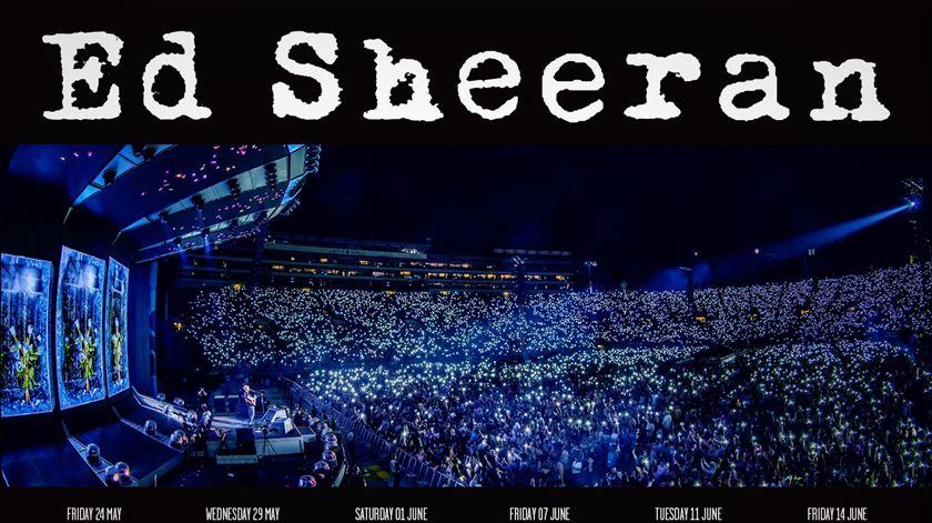 Ed Sheeran convida Médicos Sem Fronteiras para concerto no Estádio da Luz