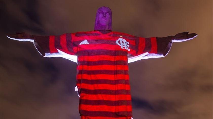 Cristo Redentor, Flamengo. Foto: Twitter Flamengo