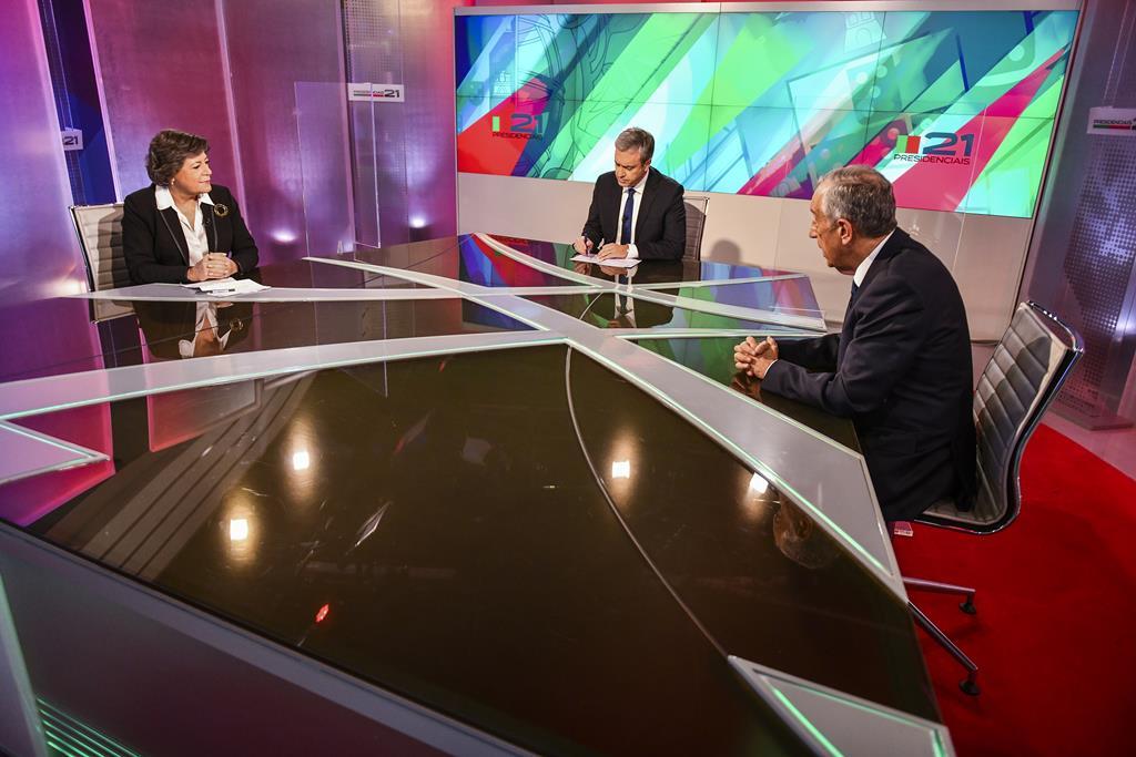 Marcelo Rebelo de Sousa em debate com Ana Gomes. Foto: DR