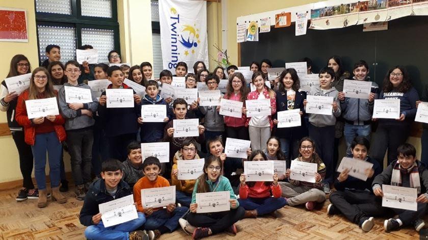 Alunos premiados em Miranda do Corvo. Foto: Liliana Carona/RR