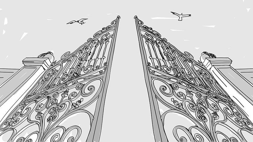 Entre o portão e a porta