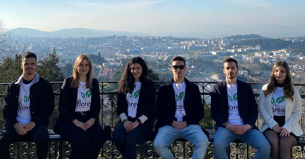 Equipa que desenvolveu o projeto Floreo. Foto: DR
