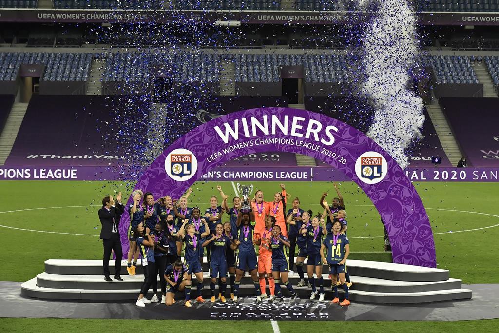 Lyon é o atual detentor da Liga dos Campeões. Foto: Alvaro Barrientos/EPA