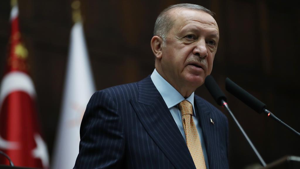 Ditador, segundo Draghi. Foto: Presidência da Turquia/EPA