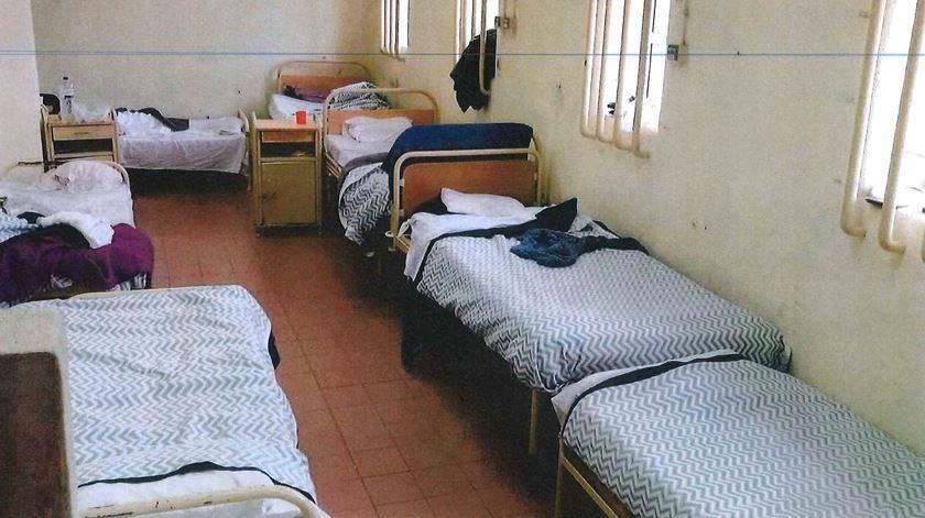 Estado da clinica na prisão de Santa Cruz do Bispo. Foto: Ordem dos Enfermeiros