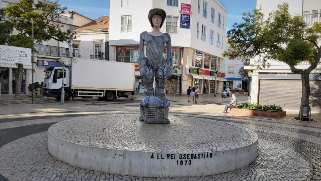 Estátua D. Sebastião, em Lagos. Foto: DR