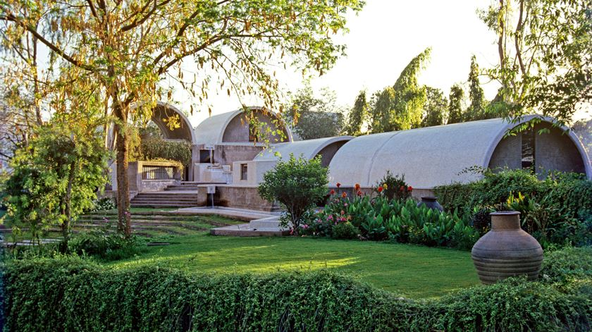 Estudio do arquiteto indiano Balkrishna Doshi