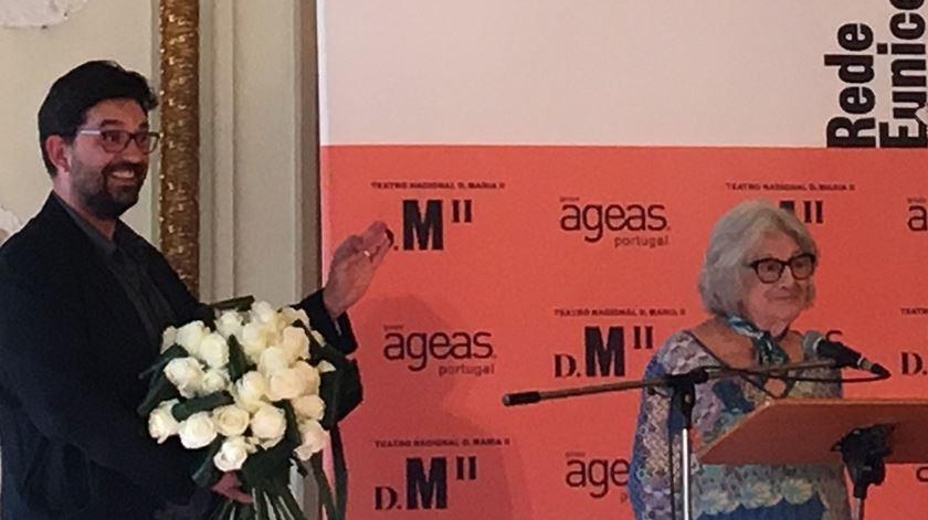 Eunice Muñoz na homenagem. Foto: Maria João Costa/RR