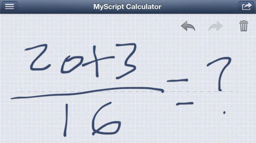 Conheça a aplicação que calcula as contas que escreve à mão
