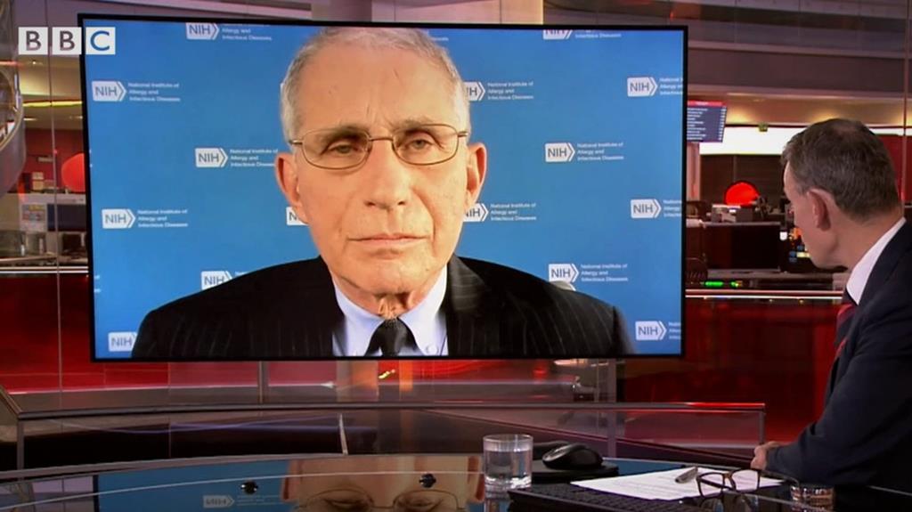 """A fase da pandemia pela qual os Estados Unidos estão a passar """"está fora de controlo em muitos aspetos"""", diz epidemiologista chefe da Casa Branca. Foto: BBC"""