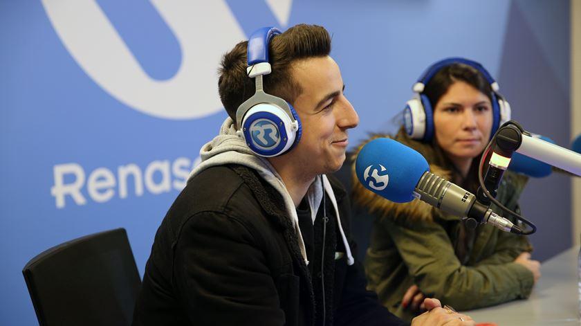 O músico Fernando Daniel e a futebolista Ana Borges
