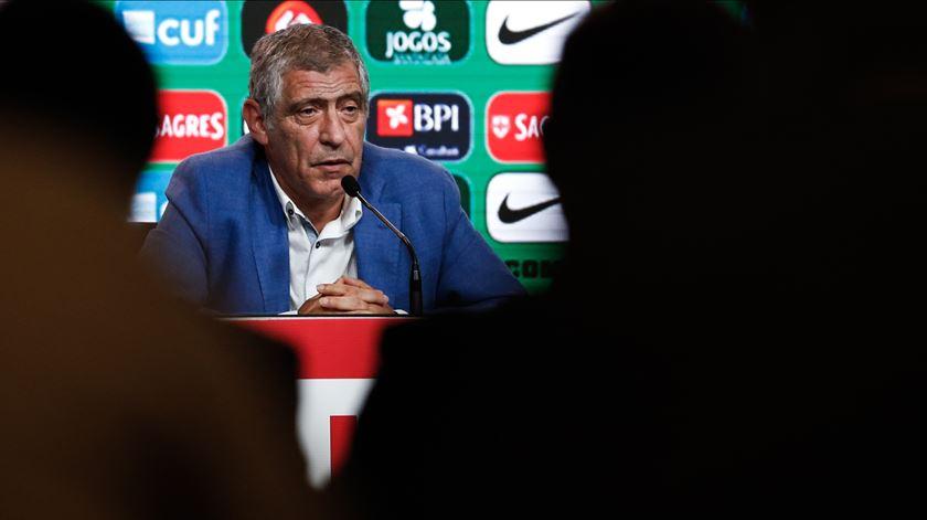 Fernando Santos anunciou a convocatória para a fase final da Liga das Nações. Foto: Rodrigo Antunes/Lusa