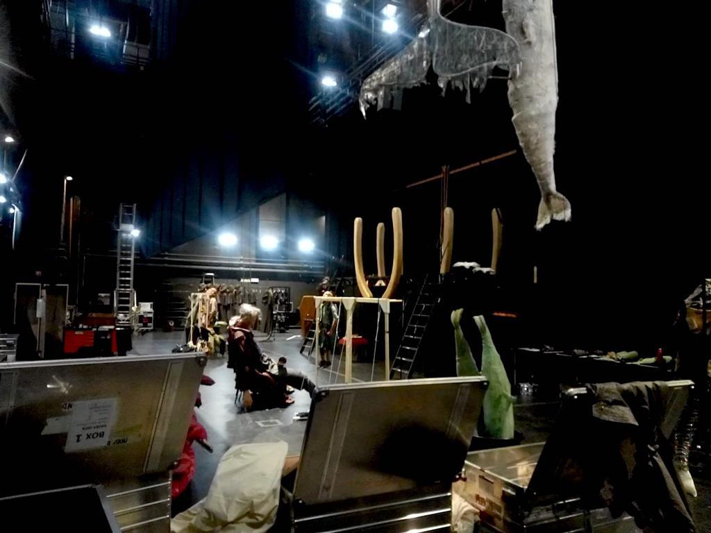 """Preparativos para o espetáculo """"Moby Dick"""". Foto: FIMFA"""