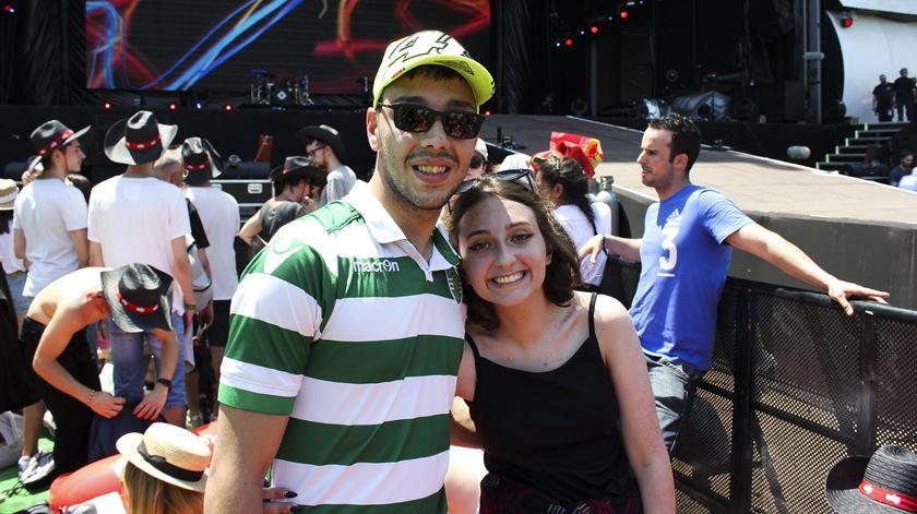 João Matos, adepto do Sporting Club de Portugal, foi ao Rock in Rio acompanhar a irmã. Foto: Ricardo Vieira/RR