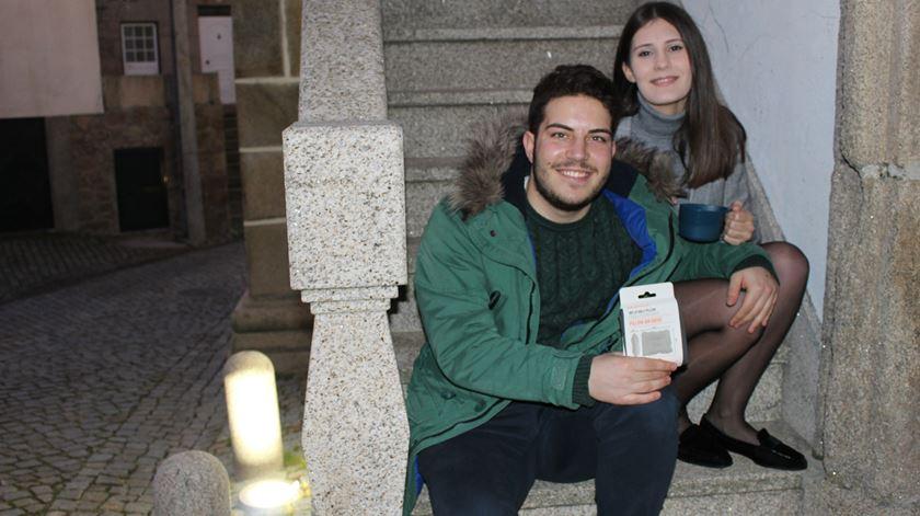 Patrícia e Agostinho escolheram uma passagem de ano diferente. Foto: Liliana Carona/RR