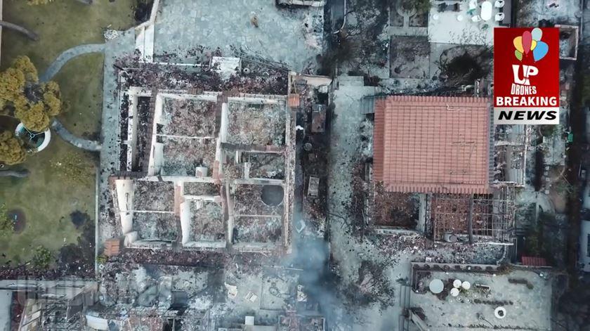 A devastação na Grécia vista por um drone