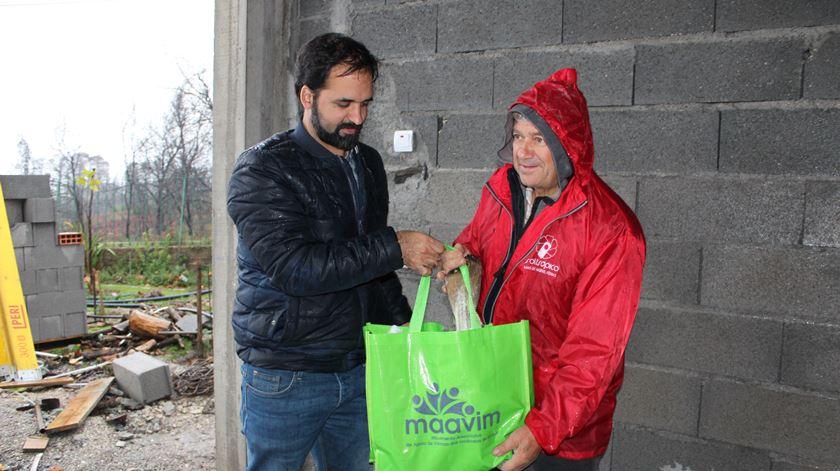 O Movimento Associativo de Apoio às Vítimas dos Incêndios de Midões vai distribuir cerca de 400 cabazes. Foto: Liliana Carona/RR