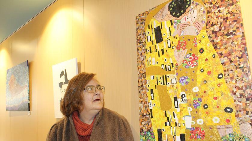 Isabel Gantes, utente da Casa de Saúde Bento Menni, na Guarda. Foto: Liliana Carona/RR