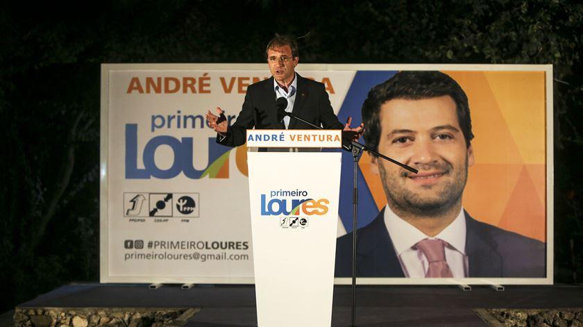 Passos Coelho na apresentação da candidatura de André Ventura a Loures. Foto: Nuno Fox/Lusa