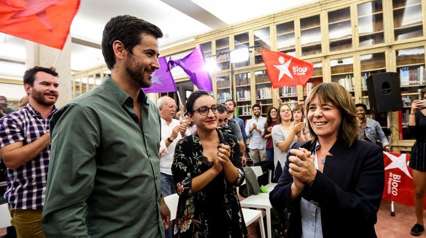 """A coordenadora do BE, Catarina Martins, admitiu que o partido teve """"um resultado modesto"""", apesar de ter crescido em número votos e em mandatos. A presença do partido na Câmara de Lisboa é a grande vitória do Bloco. Foto: Nuno Fox/Lusa"""