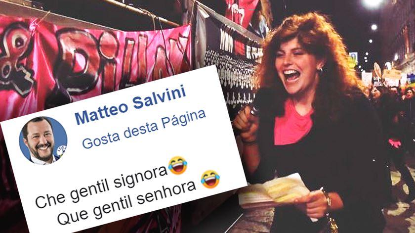 Salvini partilhou uma foto online e o abuso não tardou. Mulher retratada vai apresentar queixa