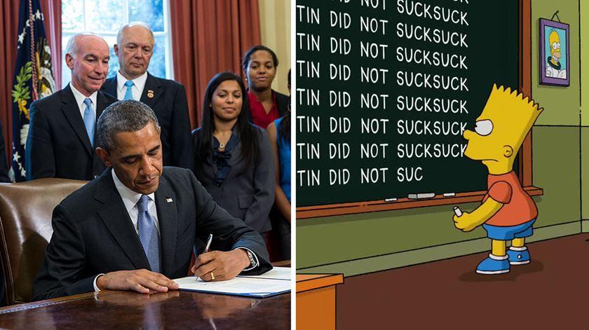 11% da população escreve como Barack Obama ou Bart Simpson
