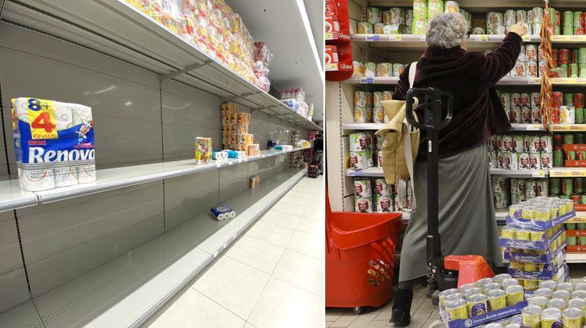 Coronavírus. Como a psicologia explica a corrida aos supermercados (e ao papel higiénico)