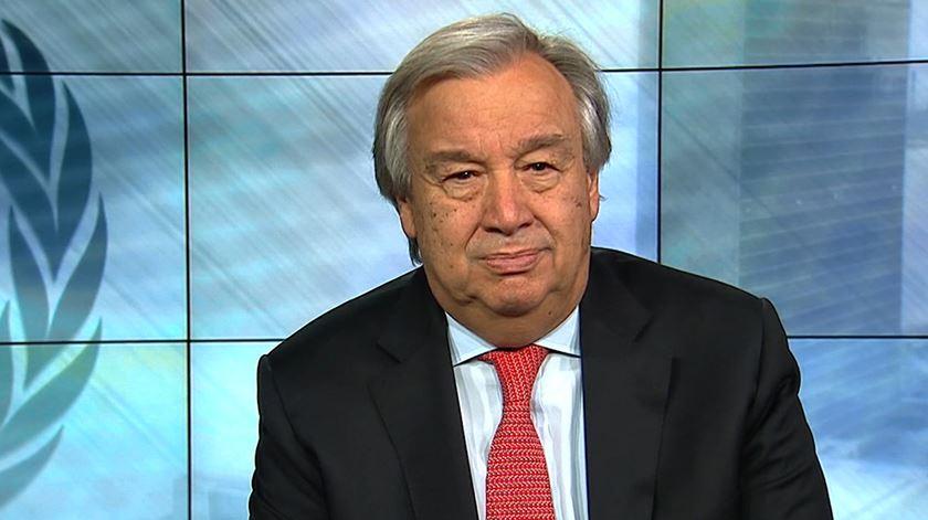 """Guterres deixa apelo à união. """"Desafios são globais mas as pessoas estão viradas para si mesmas"""""""