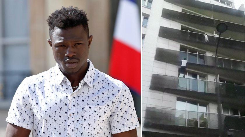 Imigrante que escalou prédio para salvar criança já tem visto de residência