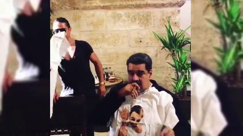 Maduro filmado a almoçar em restaurante de luxo na Turquia
