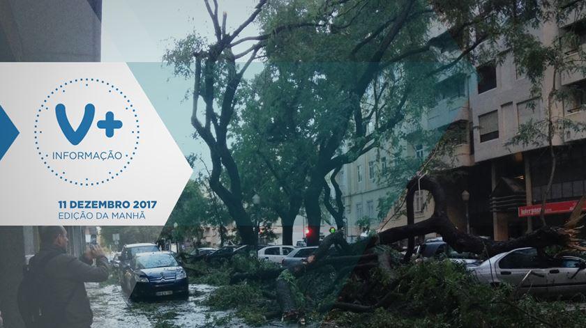 Os estragos da tempestade Ana