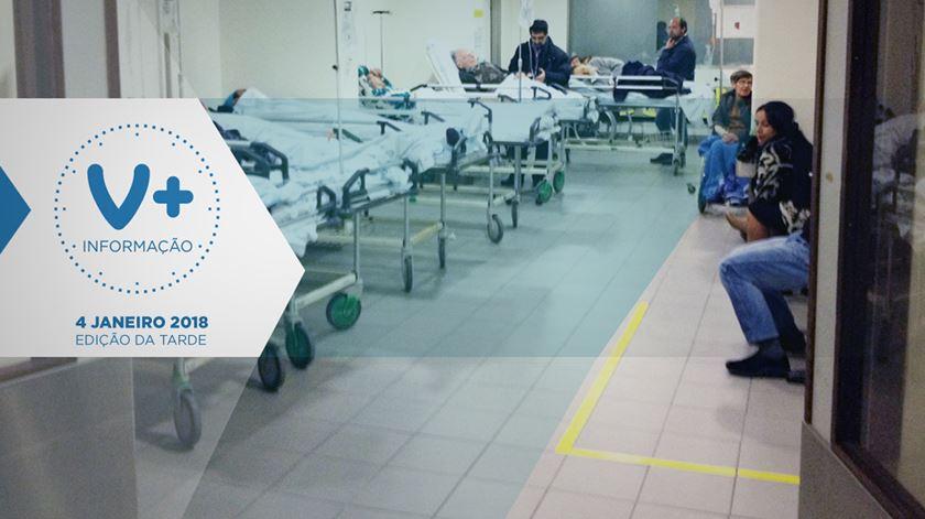 Gripe: 80 doentes internados em macas no Santa Maria