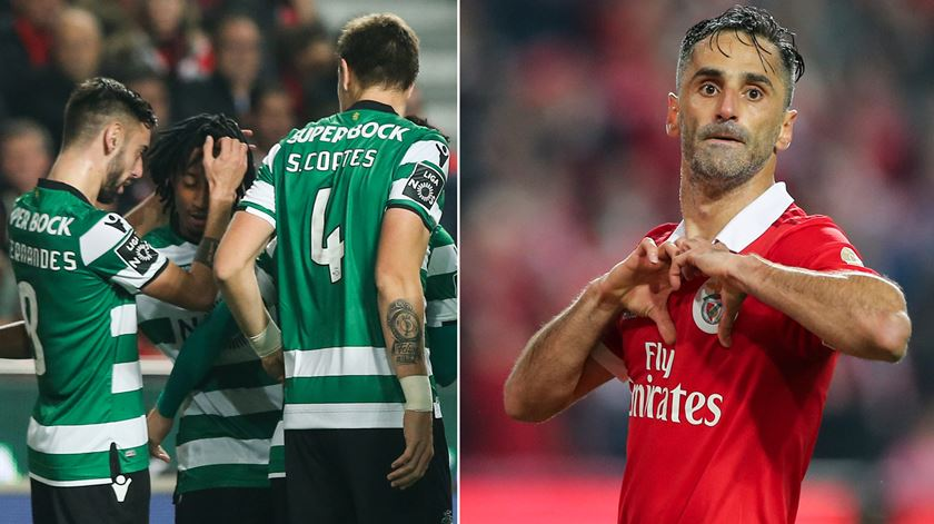 Dérbi empatado. O relato dos golos do Benfica-Sporting