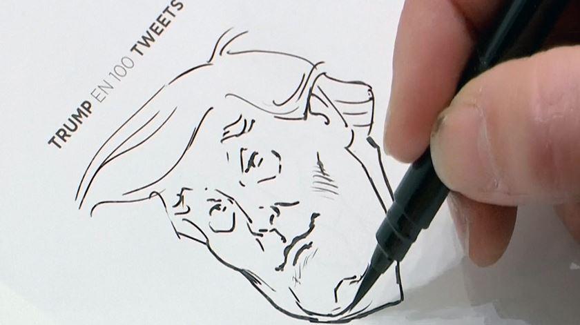 Cartoonista envia cem desenhos a Trump