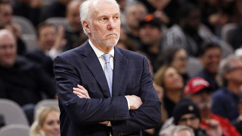 Popovich já é o quarto treinador com mais vitórias na NBA