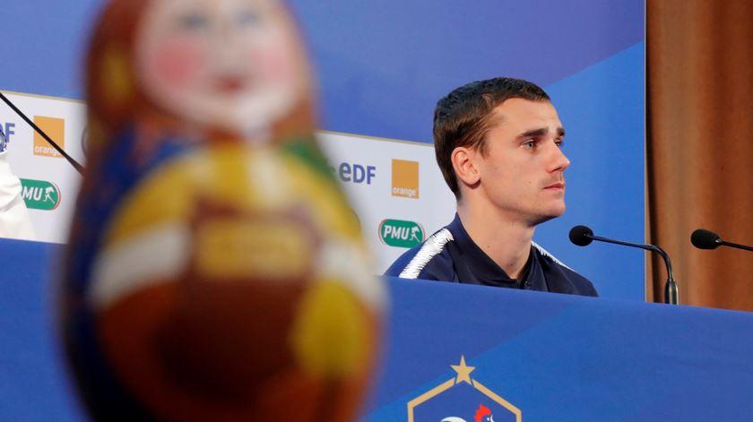 Griezmann foi o porta-voz da seleção francesa na Rússia. Foto: Maxim Shemetov/Reuters