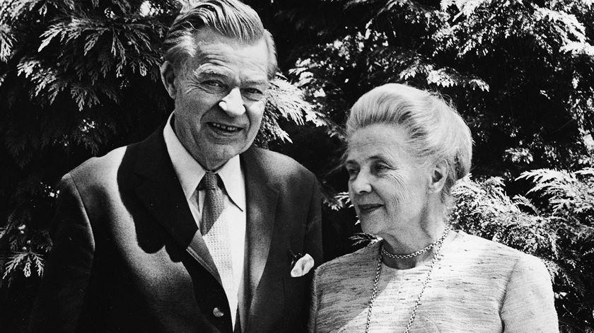Gunnar e Alva Myrdal venceram o Prémio Nobel em categorias e anos diferentes. Foto: DR