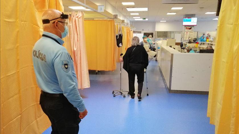 Hospital Amadora Sintra durante pandemia de covid-19 Foto: Pedro Filipe Silva/RR