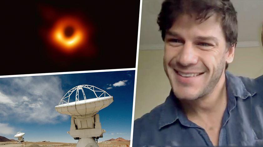 Quem é o português que fez parte da descoberta do buraco negro?
