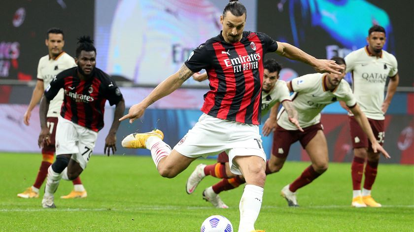 Ibrahimovic, AC Milan. Foto: Matteo Bazzi/EPA
