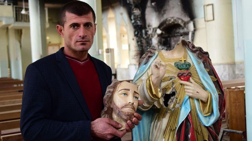 Cristãos no Iraque procuram reconstruir as suas vidas, casas e igrejas com a ajuda da AIS. Foto: AIS