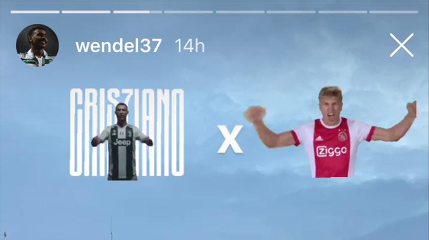 Wendel publicou várias fotografias no Estádio da Juventus. Foto: Instagram de Wendel