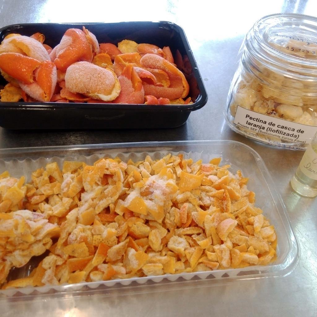 Os revestimentos são obtidos a partir de resíduos de diferentes alimentos. Foto: DR