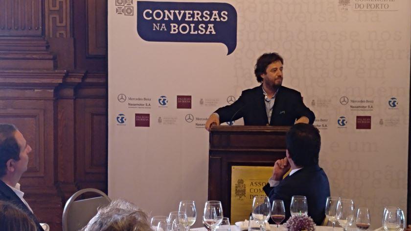 """Miguel Poiares Maduro, """"Conversas na Bolsa"""". Foto: Henrique Cunha/RR"""